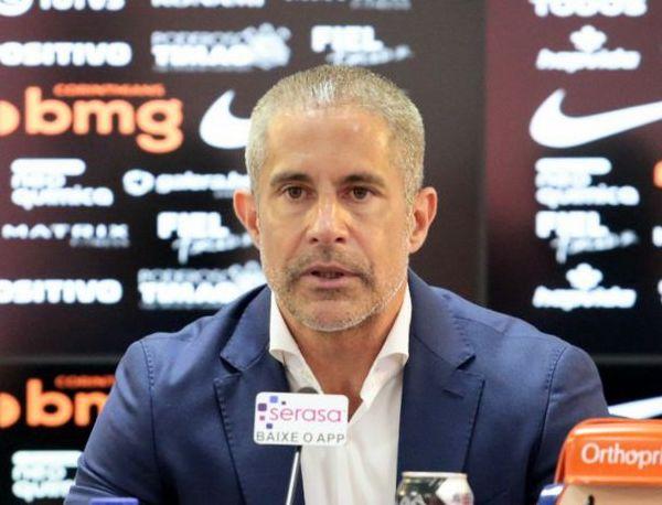 Sylvinho, técnico do Corinthians. Foto: Rodrigo Coca/Ag. Corinthians