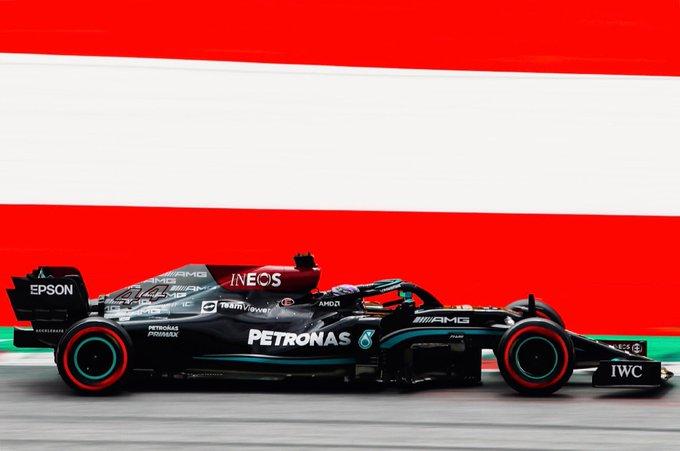 Britânico foi o mais veloz n casa da Red Bull. Foto: Mercedes-AMG Petronas F1 Team