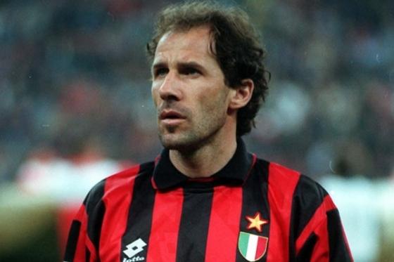 Baresi atuou em 81 partidas pela Seleção Italiana e balançou a rede apenas uma vez