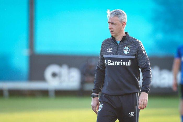 Treinador comanda a equipe gaúcha neste domingo. Foto; Lucas Uebel/Grêmio