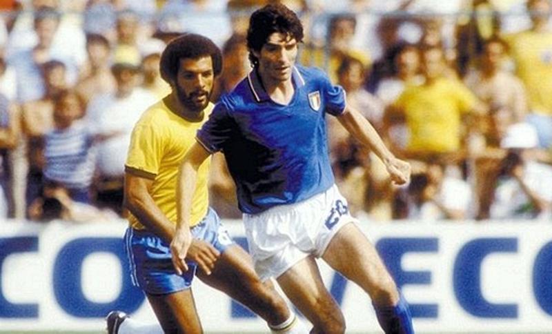 Paolo Rossi marcou os três gols italianos no jogo que eliminou o time canarinho da Copa da Espanha. Foto: Divulgação