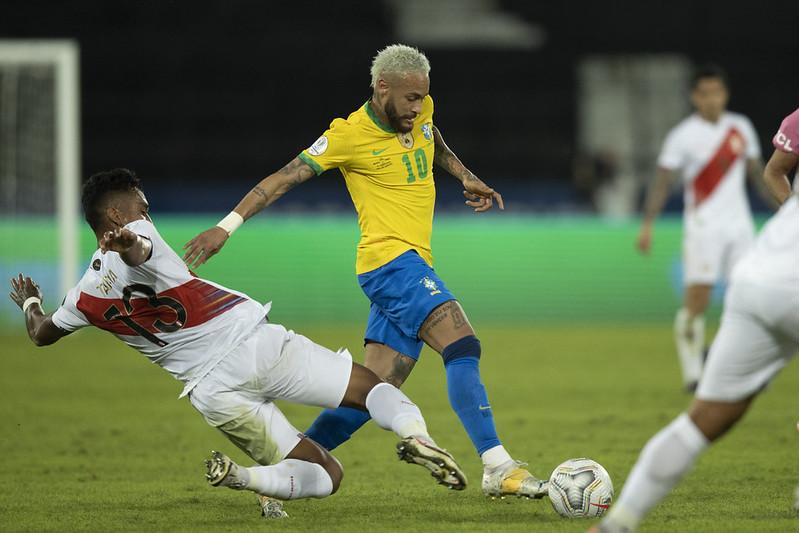 Na primeira fase, seleção brasileira bateu os peruanos por 4 a 0. Foto: Lucas Figueiredo/CBF