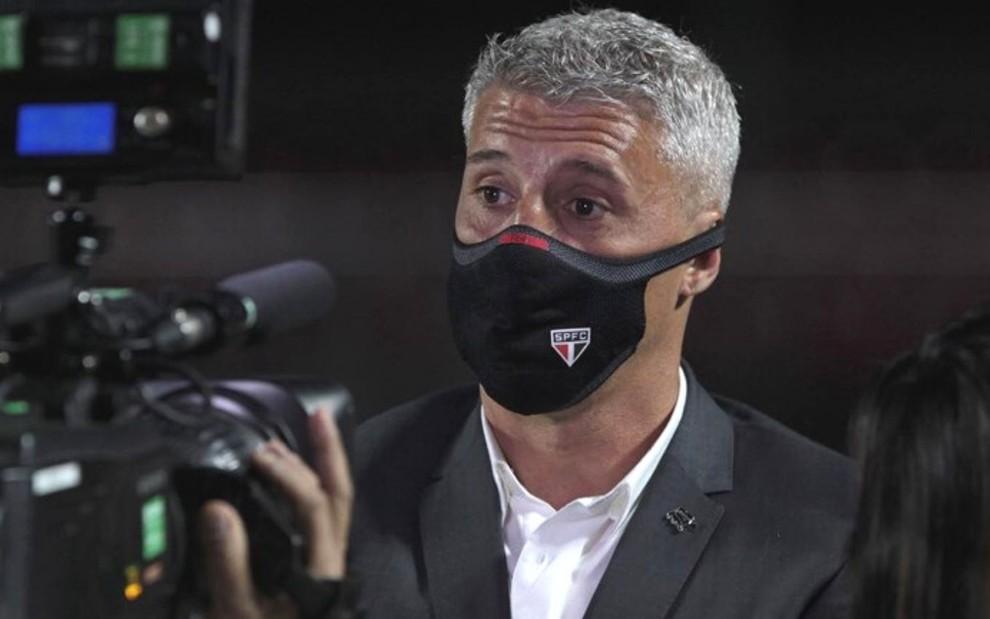 Hernán Crespo, técnico do São Paulo. Foto: Rubens Chiri/SPFC