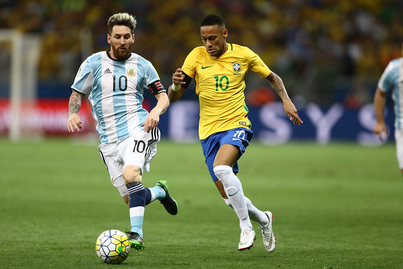 Messi e Neymar, protagonistas da final da Copa América. Foto: Lucas Figueiredo/CBF