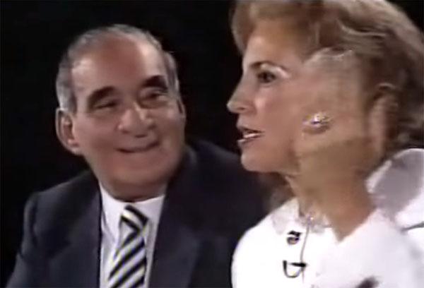 Casal foi entrevistado por Marilia Gabriela em 1991