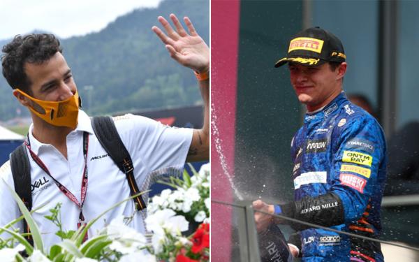 Companheiro de equipe na McLaren vivem momentos distintos. Fotos: McLarenF1