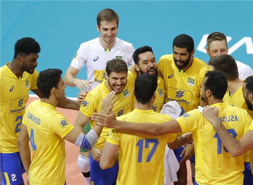 Vitórias foram sobre Sérvia e Alemanha e única derrota foi para a Itália. Foto: Reprodução/Fivb