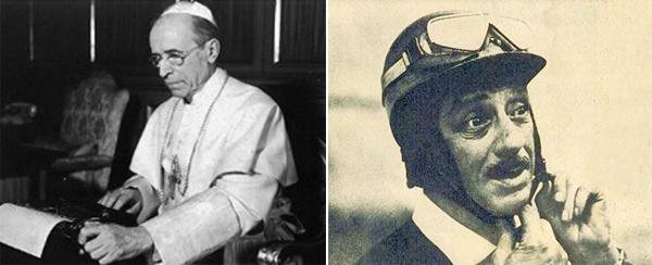 Pio XII era fã de automobilismo e recebia Chico Landi na sede da Igreja Católica. Fotos: Divulgação