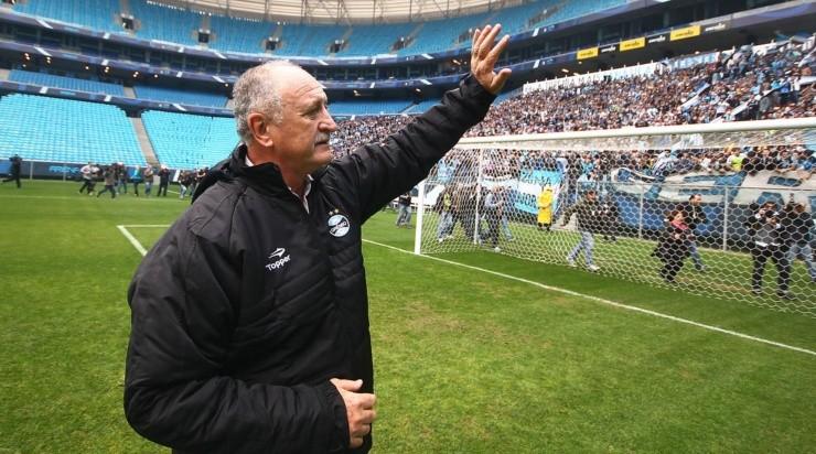 Felipão, técnico do Grêmio. Foto: Lucas Uebel/Grêmio
