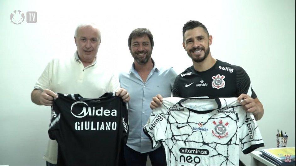Giuliano, novo meia do Corinthians. Foto: Divulgação