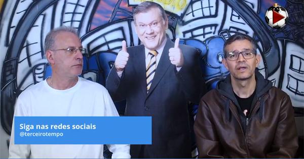 João Antonio e Frank Fortes debateram a decisão entre Brasil x Peru. Foto: Reprodução